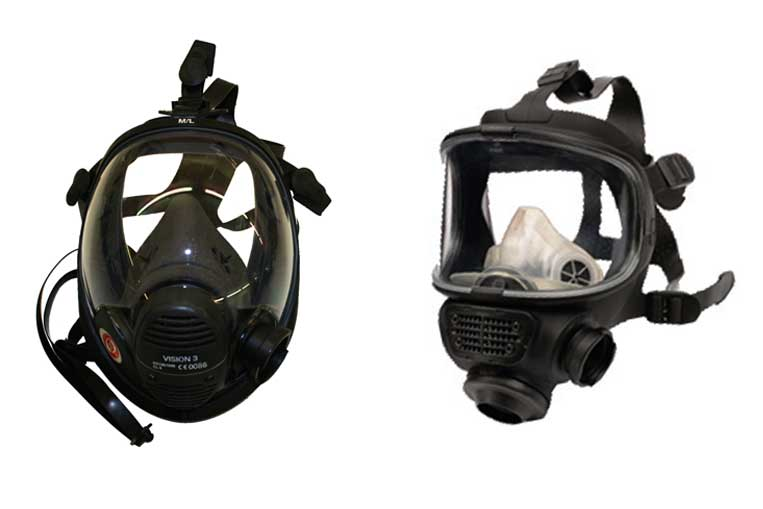 Vison 3 and Promask PP facemasks