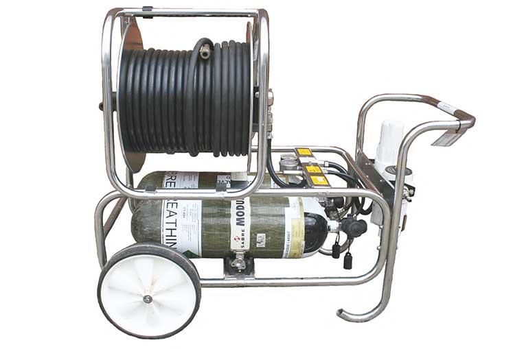 Modulair Trolley, cylinders and hose