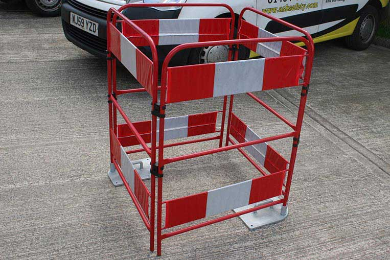 Barrier system with gate weights fitted