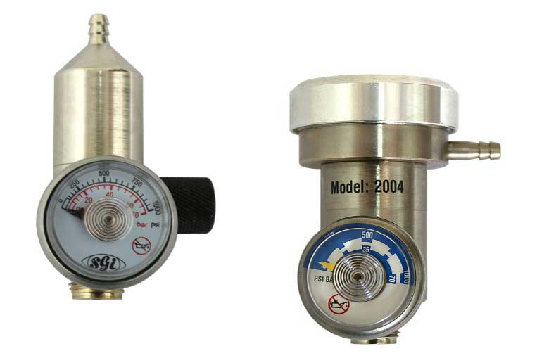 Manual and Automatic Calibration Gas Regulators