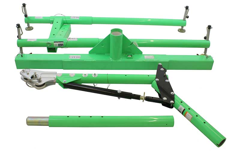 5 piece extra wide hoist system constituent parts