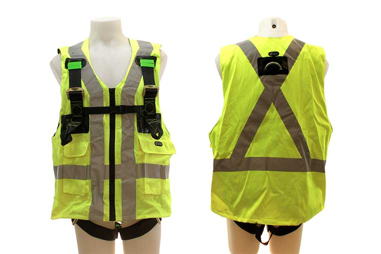 FA 10 302 00 Twin Point Harness with EN471 Yellow Jacket front and Back views