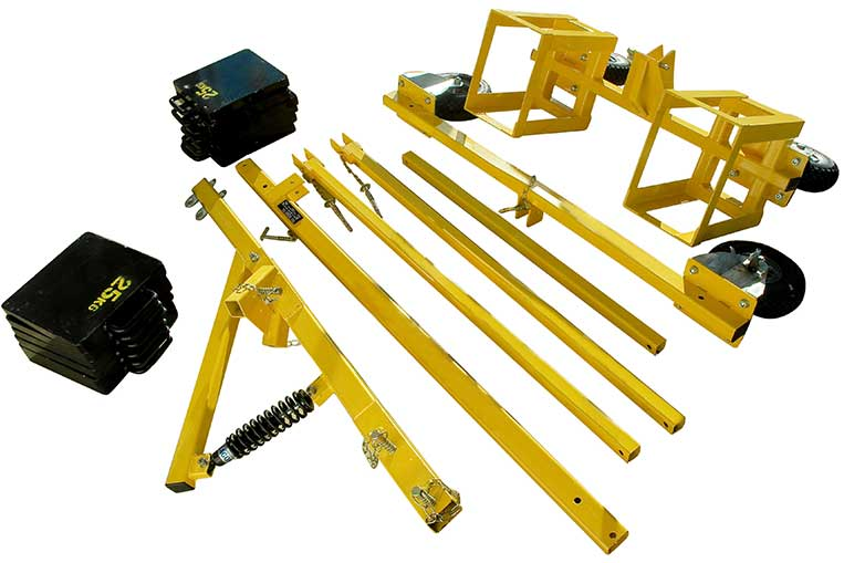 A-Frame Trolley component parts